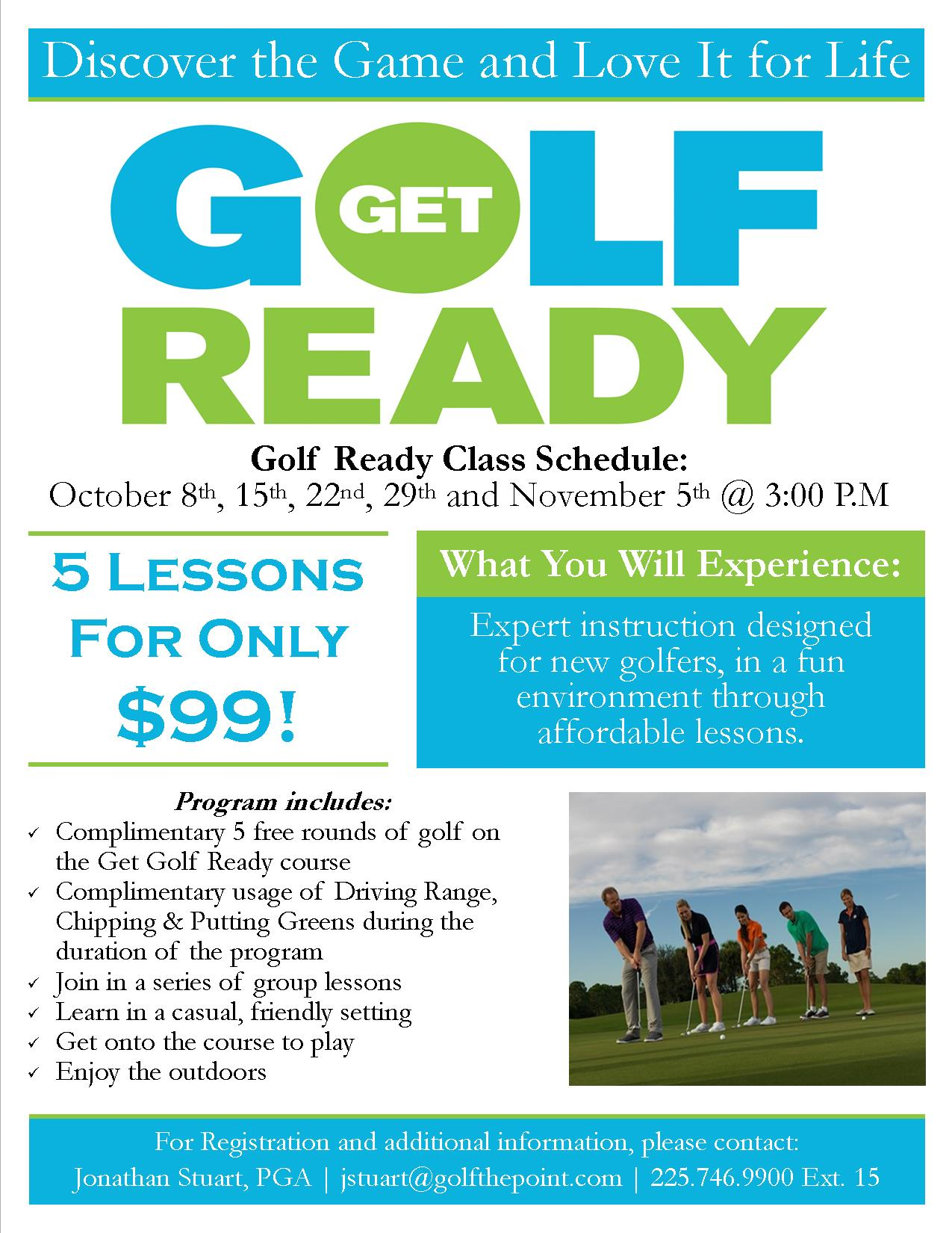 2017 Get Golf Ready Classes Flyer